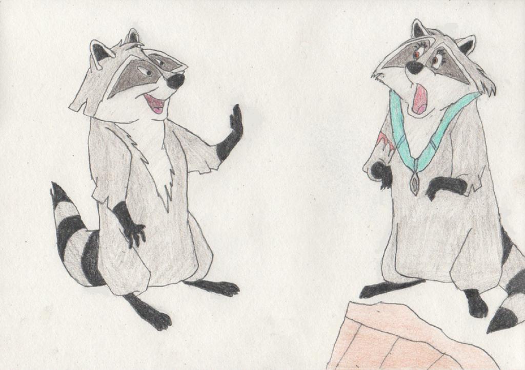 Pocahontas Turns into a Raccoon by goodtimesroll44
