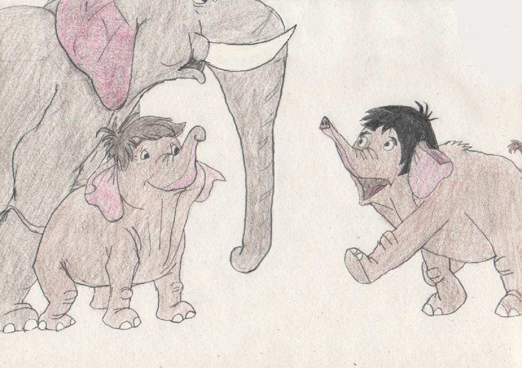 Mowgli Turns into an Elephant by goodtimesroll44