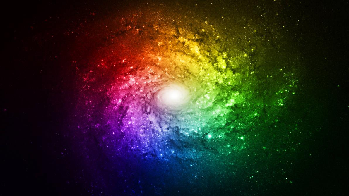 Rainbow Galaxy Bright Wallpaper Full HD By