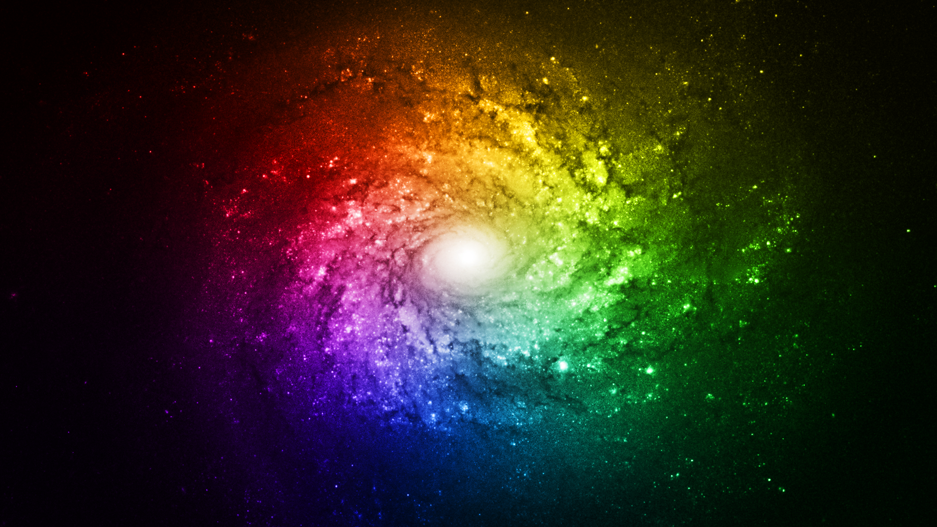 Rainbow Galaxy Bright Wallpaper Full HD by ...