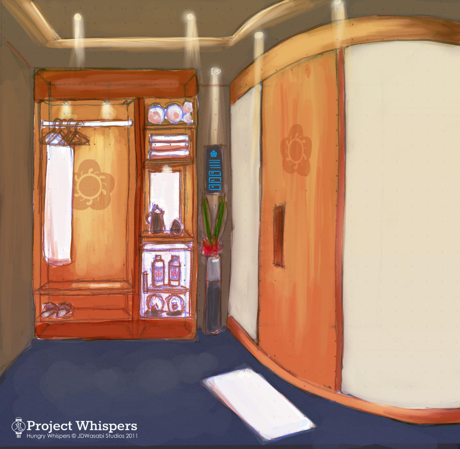HW-Concept Art: Yu's Train Cabin redesign by JDWasabi
