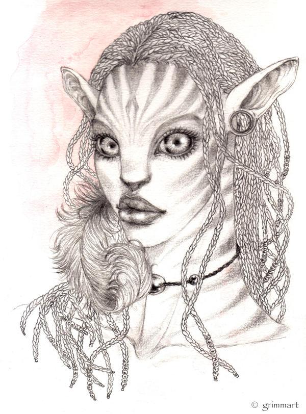 Princesse Neytiri by Grimmart