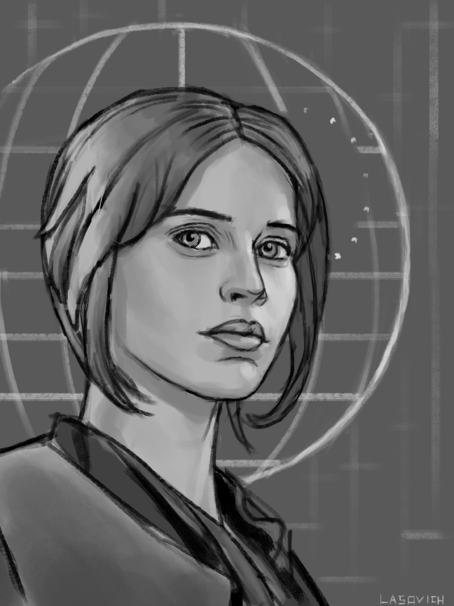 Jyn Erso Sketch by mr-sinister2048