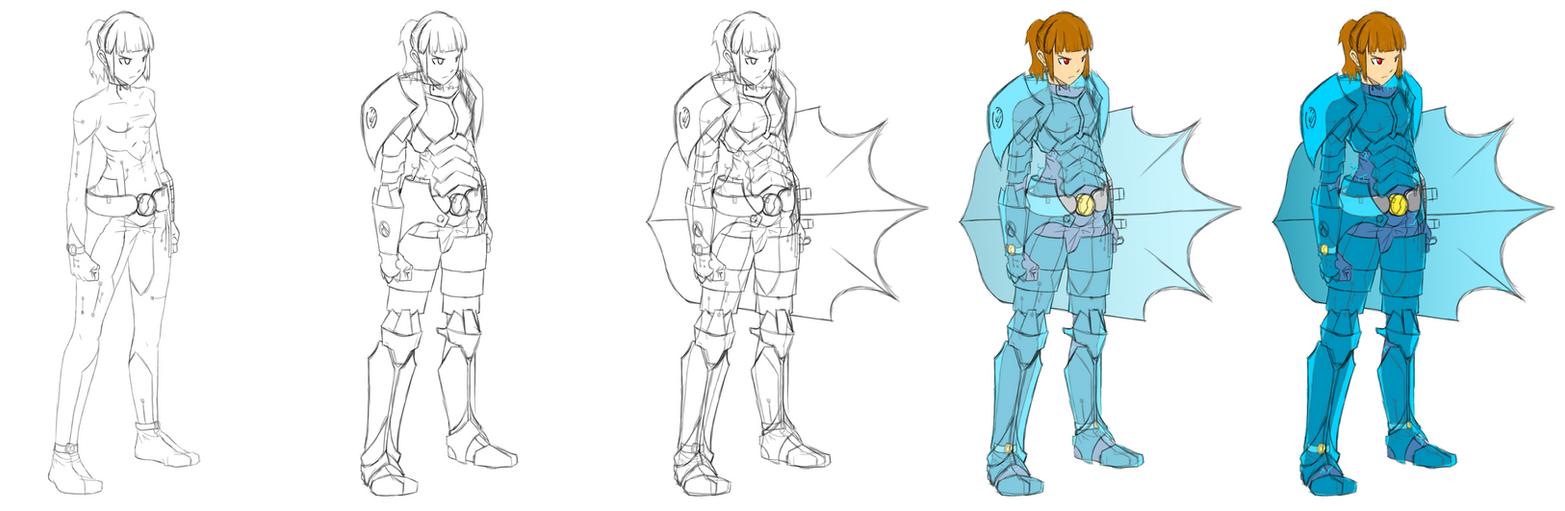 Concept - Shield Girl by DeiveEx