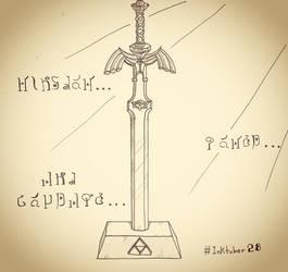 Inktober 28 - Master Sword by DeiveEx