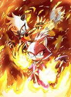 Tangle and Blaze by LaXus-DX