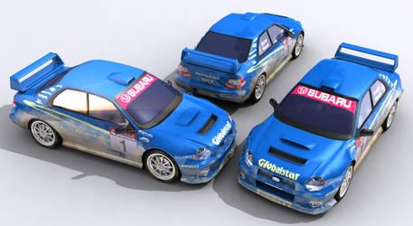 Subaru WRX Sti textured