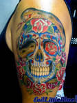 Cory's sugar skull -completed