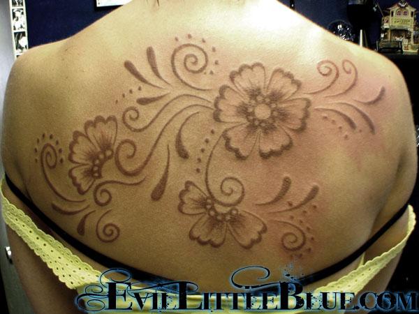 Henna Tattoo Vs Real Tattoo: Henna-style REAL Tattoo By EvilLittleBlue On DeviantArt