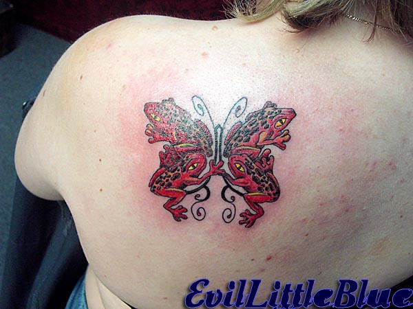 Tree Frog butterfly - butterfly tattoo