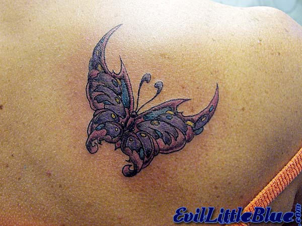 Colorful Butterfly - butterfly tattoo
