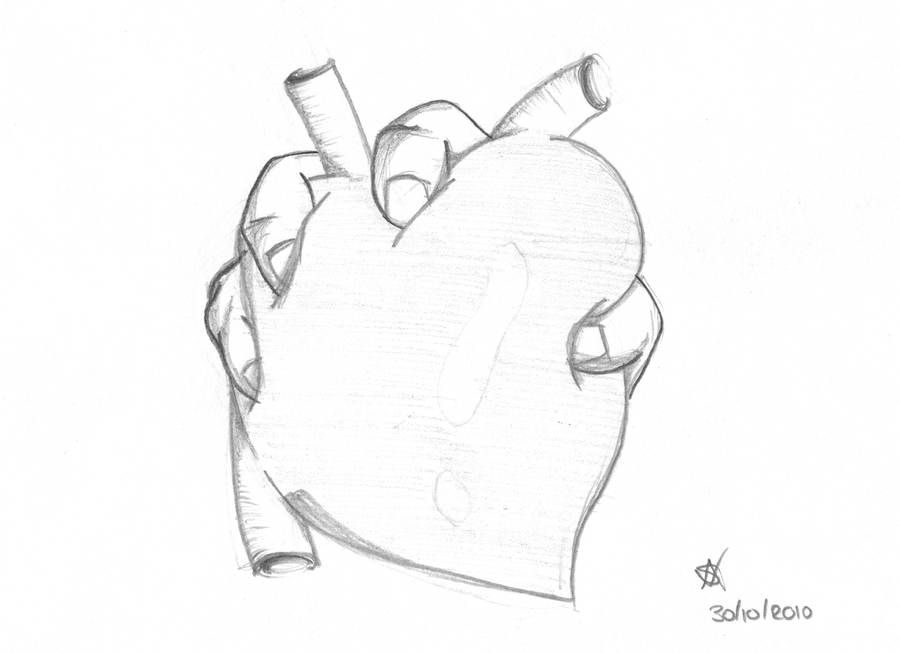 Squeezed heart by A-mieke