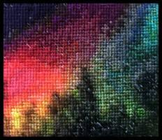 Rainbow Aurora by MadXStitcher