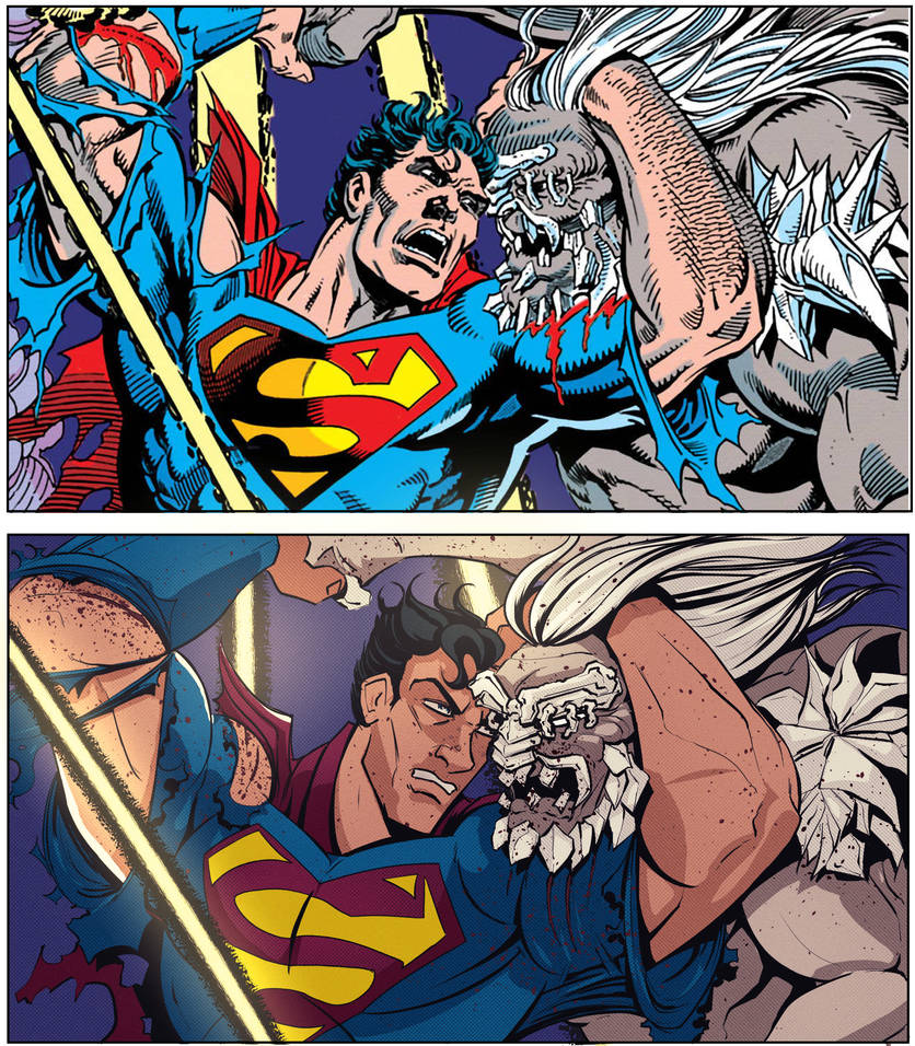 Homage to Death of Superman by Dan Jurgens