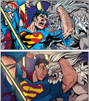 Homage to Death of Superman by Dan Jurgens