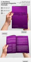 3 Brochure Catalogue Mockups