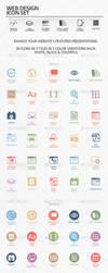 Web Design Icon Set by Kamarashev