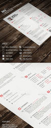 BD1 - 1 Piece Flat and Clean Resume by Kamarashev
