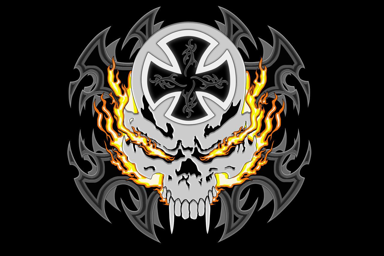 Flaming Skull By TylerXy