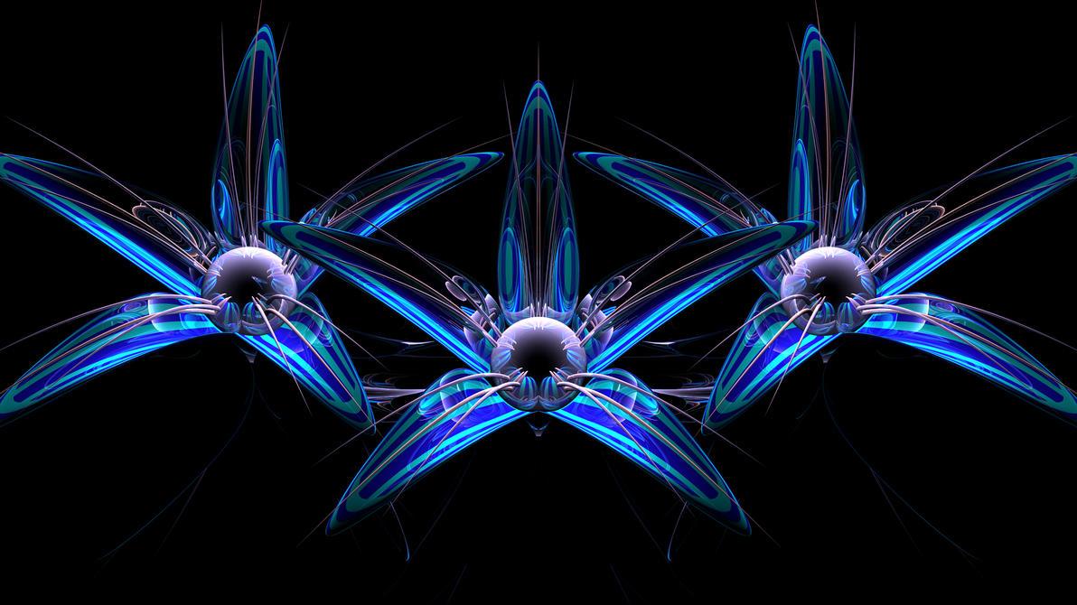3 Ice Flowers by TylerXy