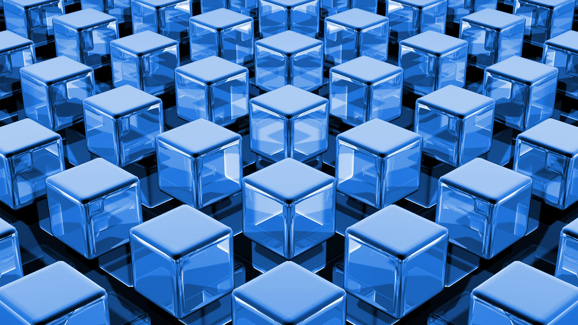 Blue Cubes by TylerXy