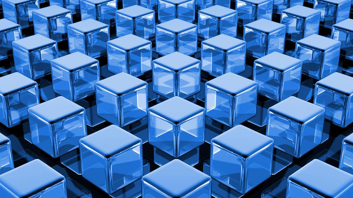 Blue Cubes by TylerXy