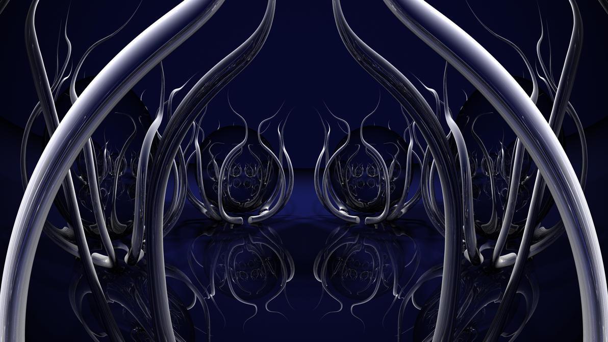Deep Blue Doodle by TylerXy