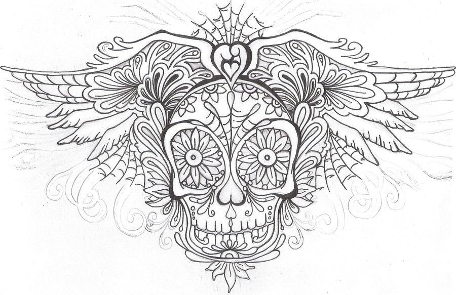 sugar skull coloring pages princess - photo#23