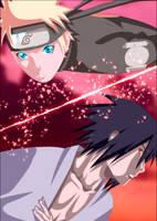 Sasuke and Naruto by iAwessome