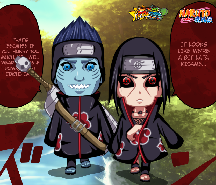 naruto sd kisame and itachi by iawessome