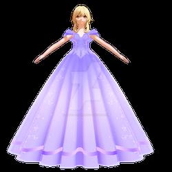 Lumine blue princess dress