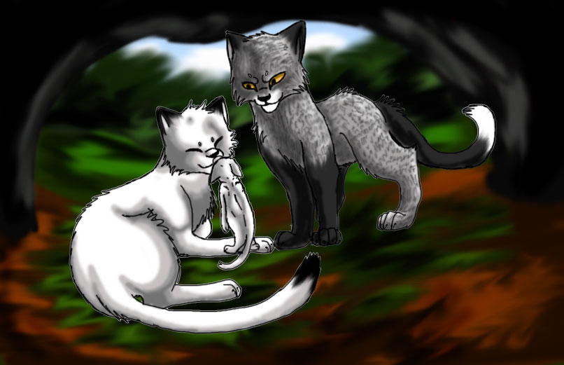 Warrior Cats Thistleclaw And Snowfur Thistleclaw and snowfur by