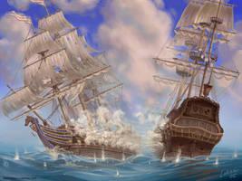 Sea Battle by Lobzov
