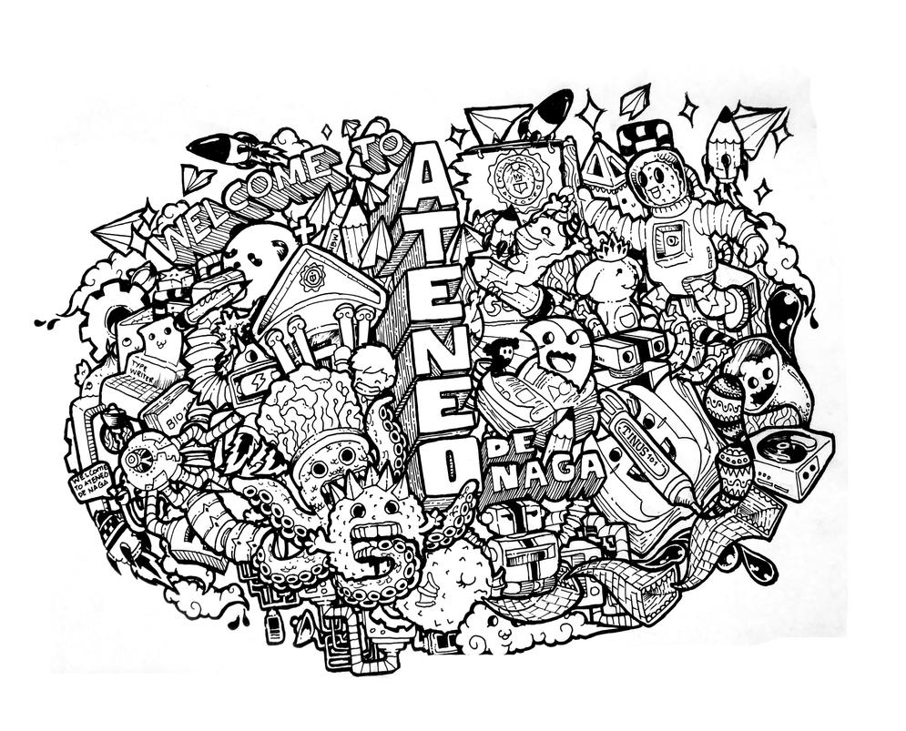 Doodle Welcome To Ateneo De Naga By Joshuavillaluna On