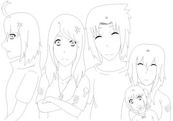 Siblings! [Lineart] by TayBeliebeIt