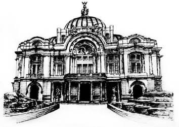 Dibujo Sketch - Palacio de Bellas Artes by jessicalvarez