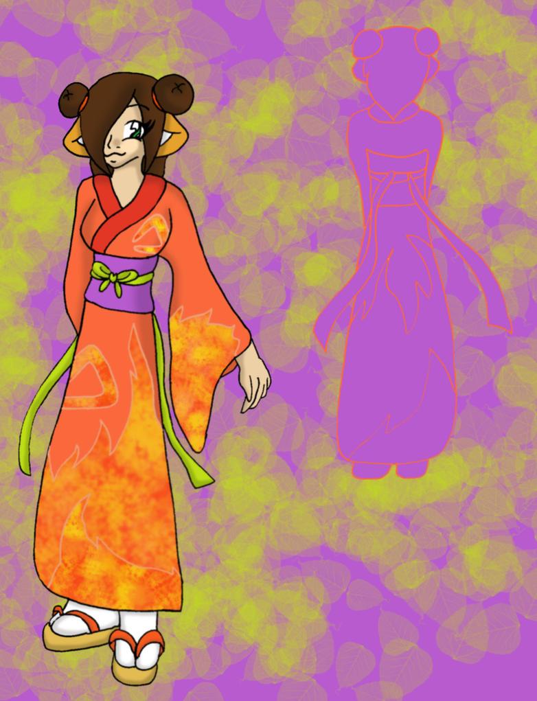 Reyn's Fire Kimono by Bethessa
