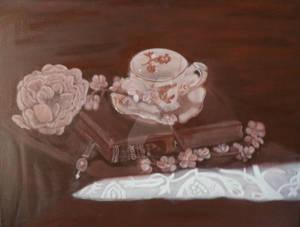Tea Time Oil Painting