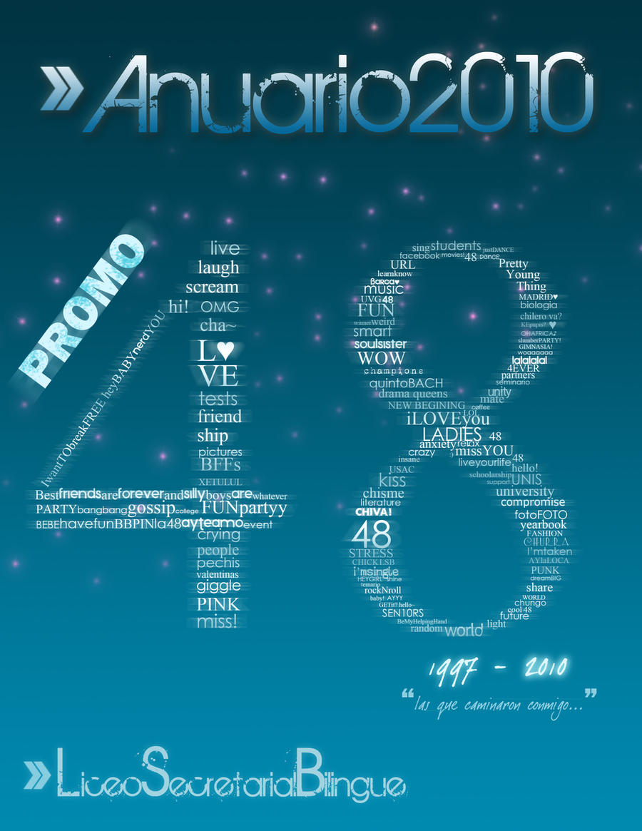 . PROMO 48 yearbook design