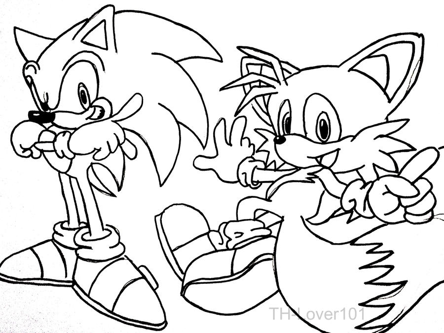 tails and shadow coloring pages - photo#5