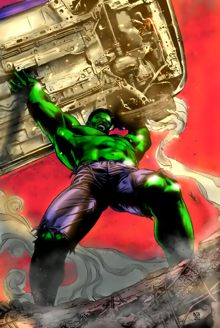 Angry Hulk by arissuparmanart