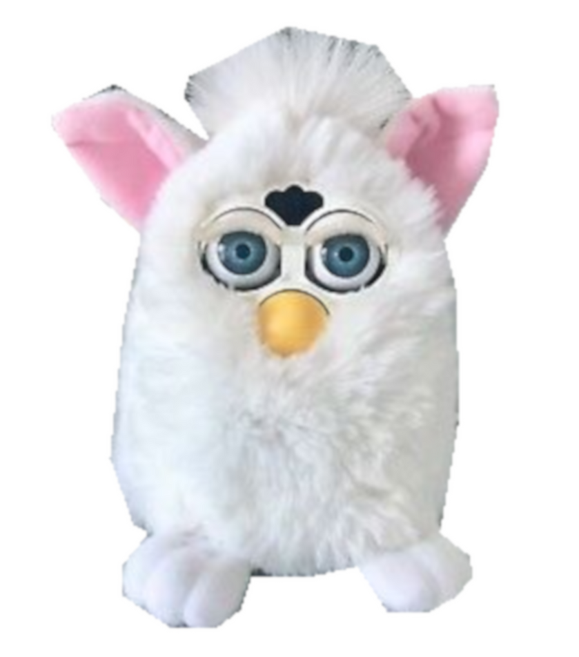 Snowball Furby poses by kaylor2013