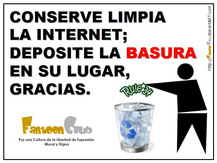 Ponga LA BASURA EN SU LUGAR By FantoonClub On DeviantArt