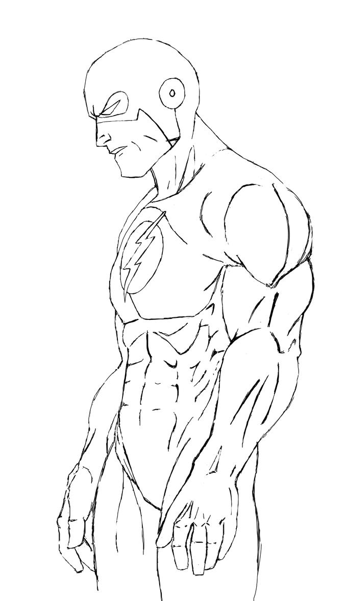 The Flash Sketch By Mikeherb On DeviantArt