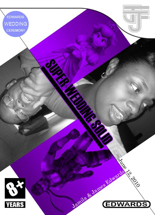 Wedding Program Cover by SevenofOdds on deviantART