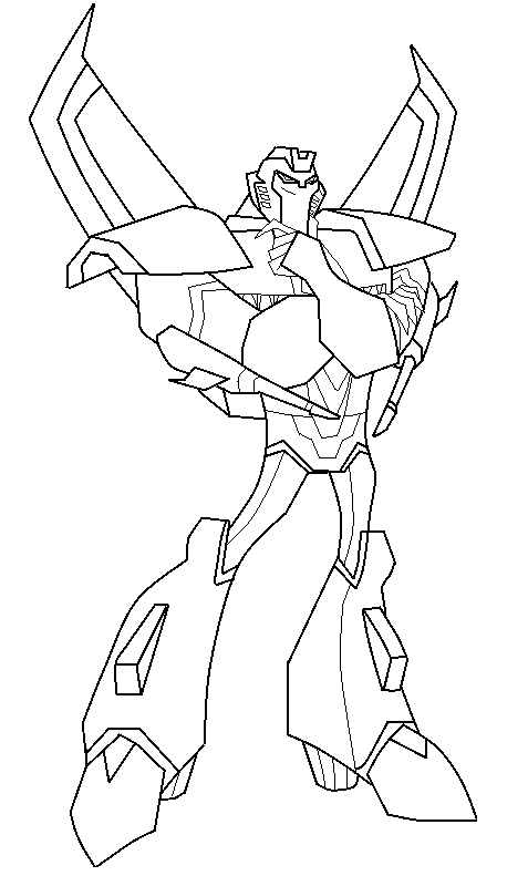 Animated starscream ms paint by armbullet on deviantart for Transformers coloring pages starscream
