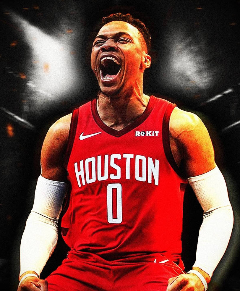 Russell Westbrook Houston Rockets Jersey Fan Art By