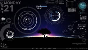 my rainmeter by bitts2010