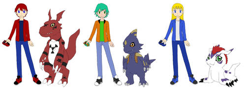 Team Dashers as Digimon Tamers