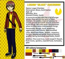 Red Dasher reference sheets- Logan Sheridan